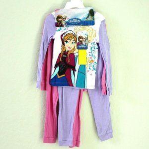 Disney Frozen Anna Elsa Olaf 4-Pc Pajama Sleepwear